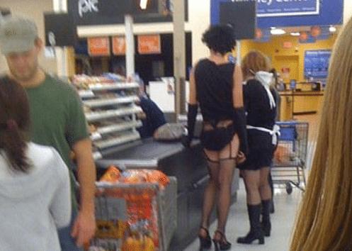 Lovers at Walmart