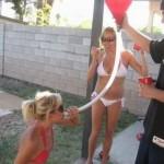 Girls Handling Long Funnels