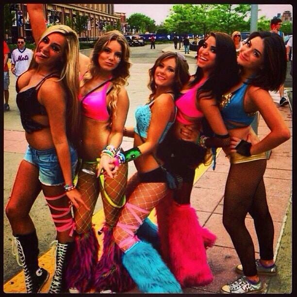 School girl wild rave party girls