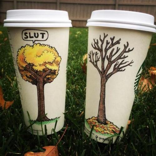 Pretty Awesome Starbucks Coffee Drawings