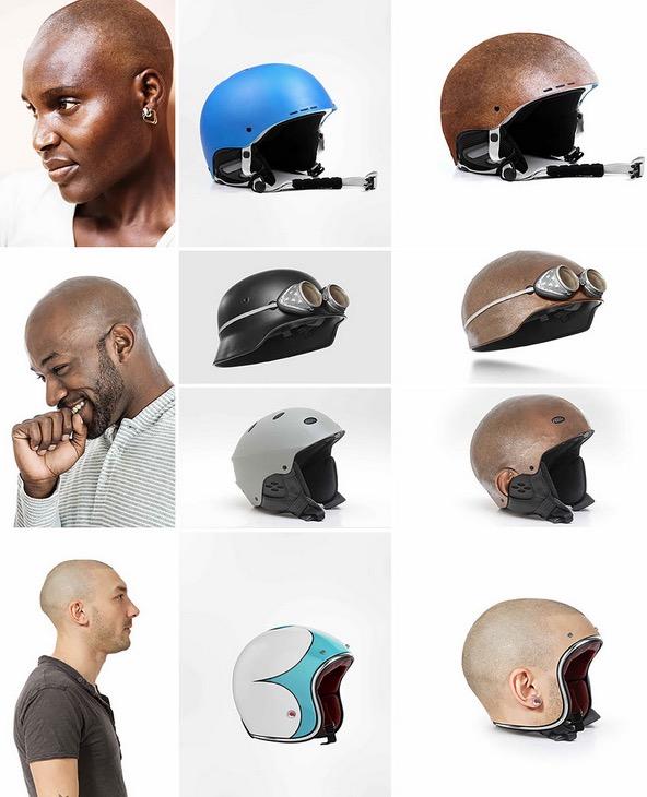Human Head Helmet 5