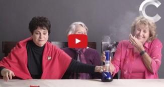 Three Grandmas Smoke Marijuana for the First Time. Reaction = EPIC.