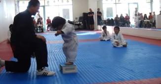 Little Boy Tries To Break Board In Taekwondo (Video)