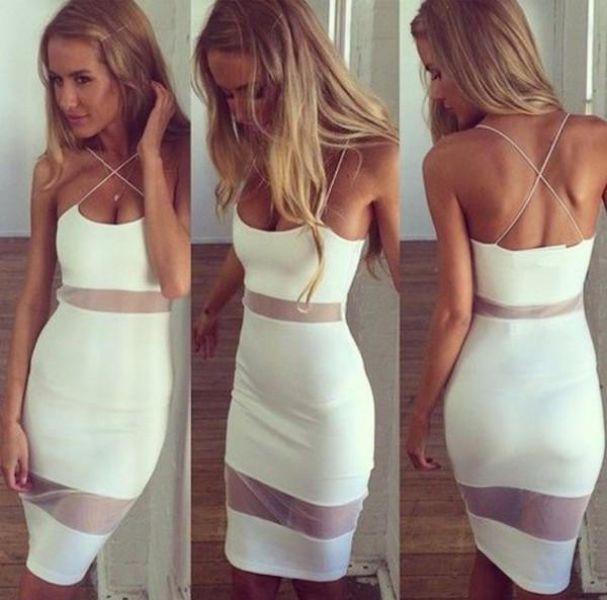 Girls Wearing Mesh Dress 28