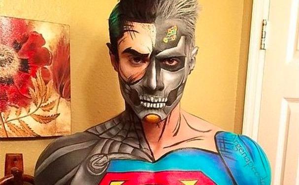 Guy Uses Makeup to Transform into Every Superhero