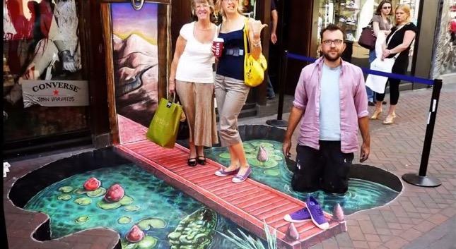 Best Sidewalk 3D Chalk Artwork EVER