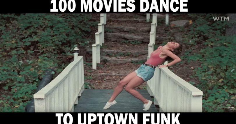 """Uptown Funk"" Mash-Up of 100 Movie Dance Scenes"