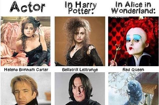Harry Potter = Alice in Wonderland = Mind Blown!