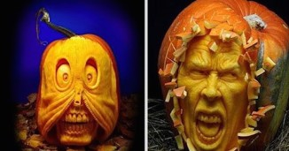 Most Realistic Face Pumpkin Carvings Ever