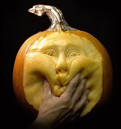 Detailed Face Pumpkin Carvings 1