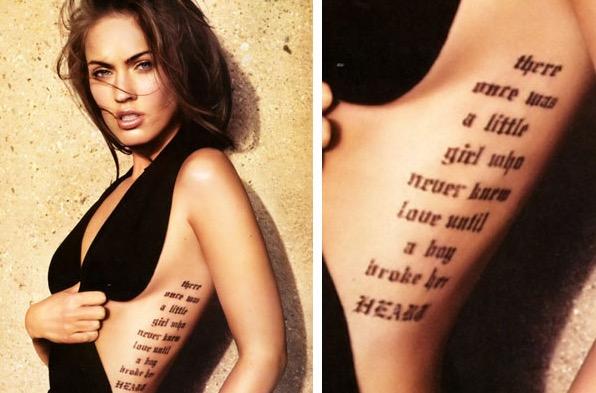 Megan Fox Tattoos 1