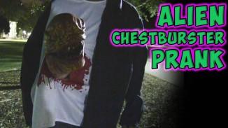 Funny Alien Chestburster Prank (Video)