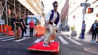 Aladdin Magic Carpet Riding Prank (Video)