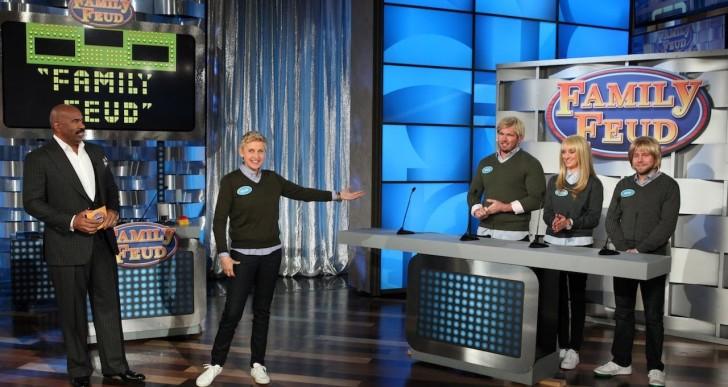 Ellen Plays Family Feud with Steve Harvey (Watch)