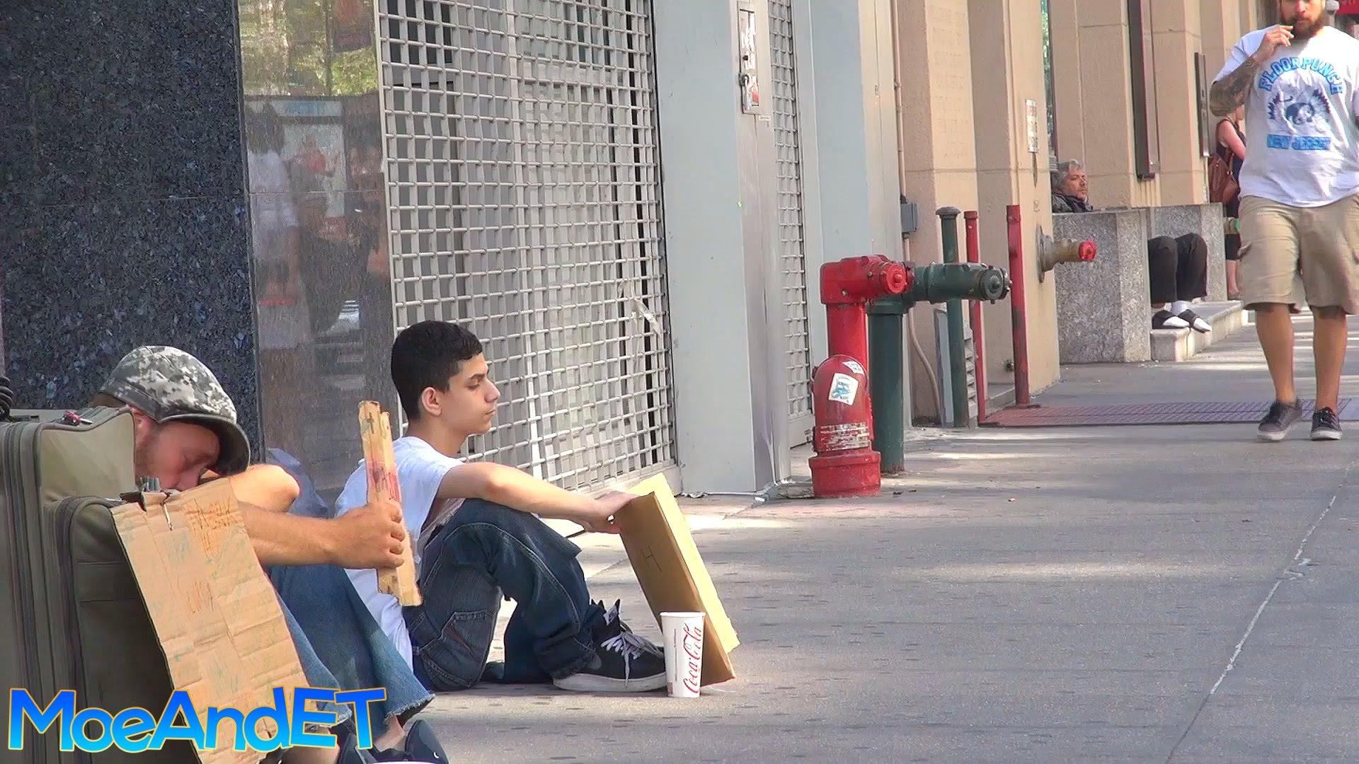 Social Experiment: Homeless Man vs Homeless Child