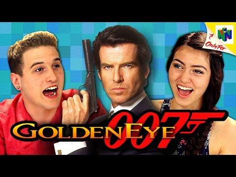 Teens of Today React to N64 Goldeneye Video Game (Video)