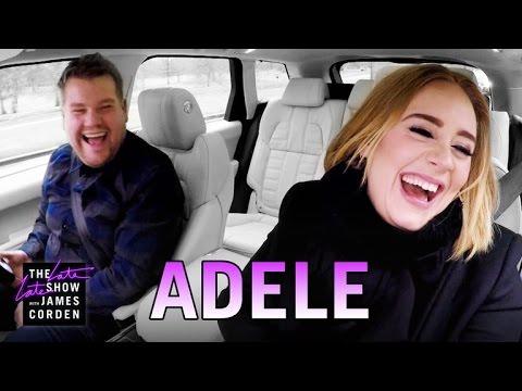 Adele and James Corden Carpool Karaoke is Epic (Video)