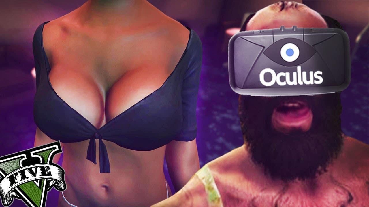Grand Theft Auto V Wearing Oculus Rift Virtual Screen (Video)