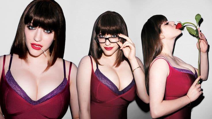 Star from ' 2 Broke Girls' Kat Dennings Says Rack On!