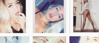 Blonde Bombshell Rocking Her Lingerie Right