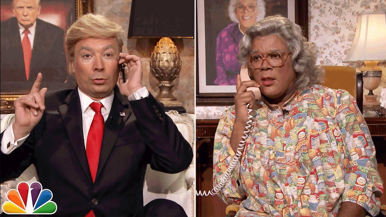 Jimmy Fallon as Trump Calls Madea (Video)