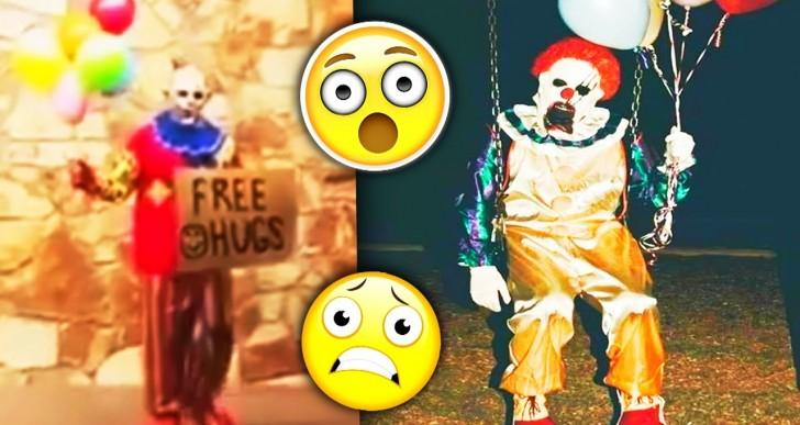 Top Creepiest Clowns in Public Caught on Camera (Video)
