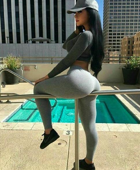 Huge Booty in Yoga Pants