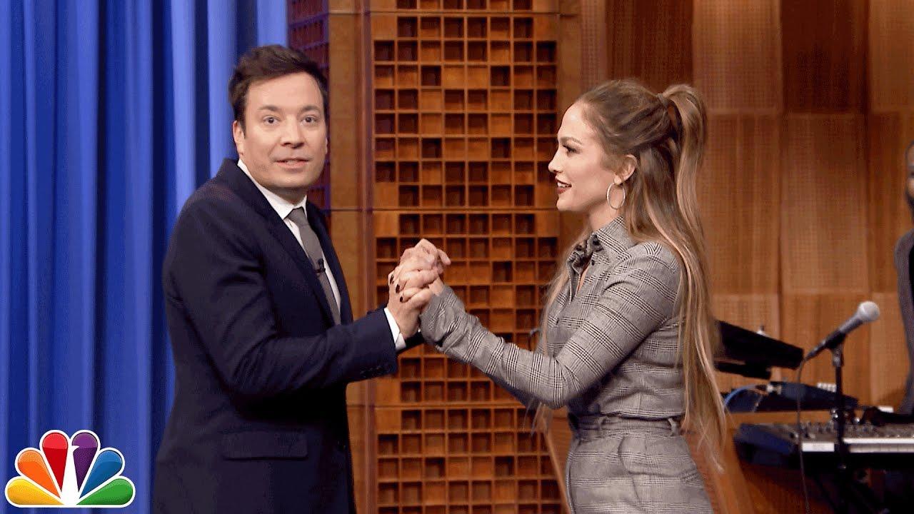Jennifer Lopez Dance Off Battle on the Late Night Show (Video)