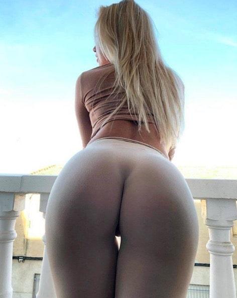 Bending Over in Yoga Pants